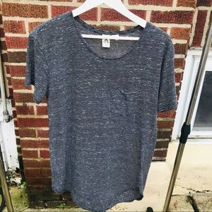 Anthropologie Moth Striped Tee Shirt with Pocket